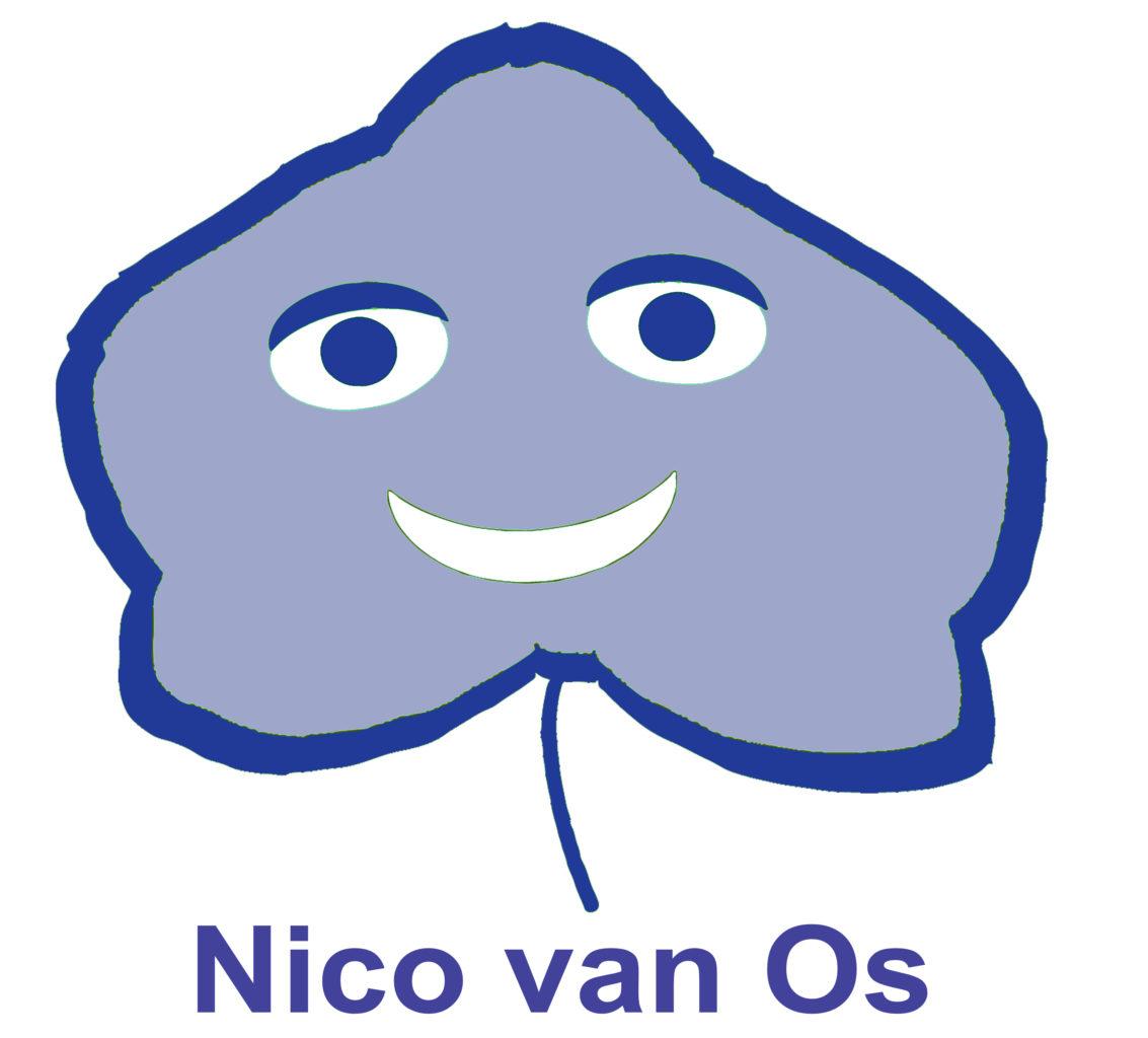 Logo Nico van Os Blauw